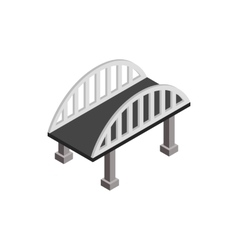Bridge with arched railings icon vector image