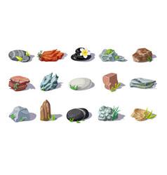 Cartoon colorful stones set vector
