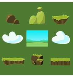 Cartoon nature landscape unending vector