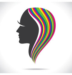 colorful hair of beautiful women vector image