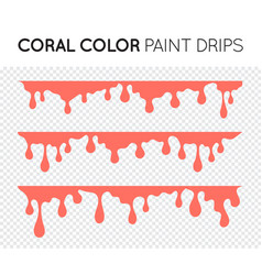 coral paint drips stains black oil liquid vector image