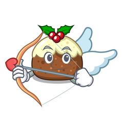 cupid fruit cake character cartoon vector image