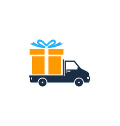 delivery gift logo icon design vector image