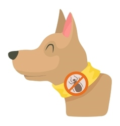 Dog collar icon cartoon style vector