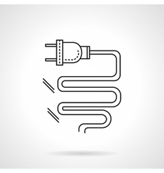 Electrical plug flat line icon vector image