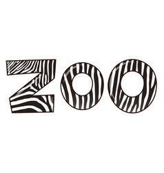 Font design for word zoo vector