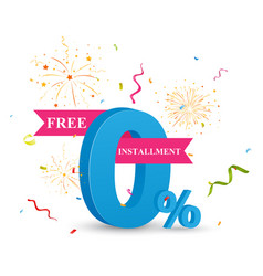 Free installment sale concept vector