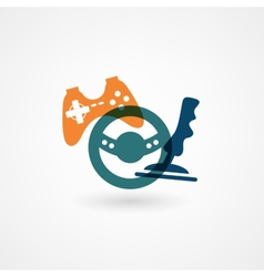 game joystick icon vector image