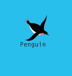 Graphic penguin symbol vector