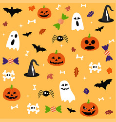 halloween postcard vector image