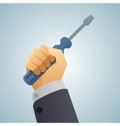 hand turnscrew icon vector image