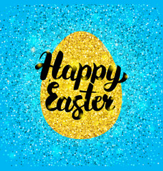 Happy easter glitter design vector