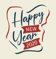 happy new year vintage letter for greeting card vector image