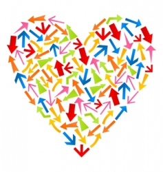 heart from arrows vector image