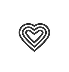 heart logotype line outline art symbol or vector image