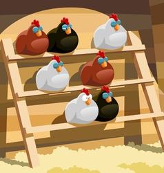 Hen house vector