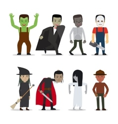Horror characters vector image