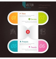 infographic options tab vector image