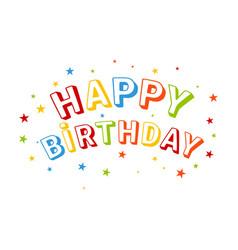Inscription happy birthday vector