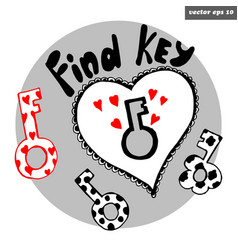 Key with locker vector