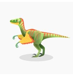 Lesothosaurus isolated cartoon monster vector