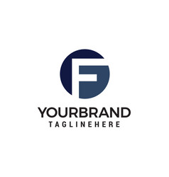 Letter f logo design concept template vector