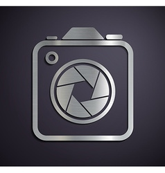 Logo of metal camera vector
