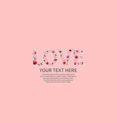 Love text pink color on pink background vector