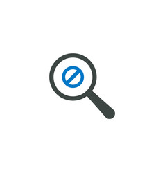 Magnifying glass icon ban icon vector