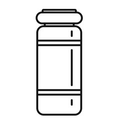 medical injection jar icon outline style vector image