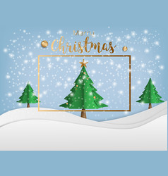 Merry christmas and winter season with landscape vector