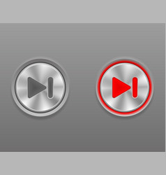 metal media button rewind on and off position vector image