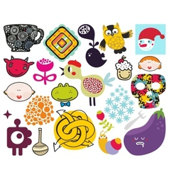 Mix of different images vol69 vector image