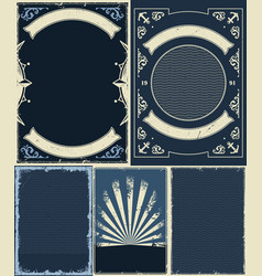 nautical and marine vintrage backgrounds set vector image