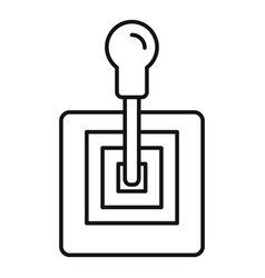 Old gearbox icon outline style vector