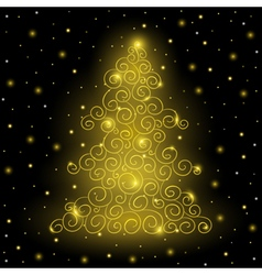 Original Golden Christmas tree vector image