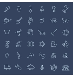 Outline icon collection - Flower and Gardening vector
