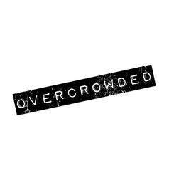 Overcrowded rubber stamp vector
