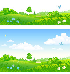park backgrounds vector image