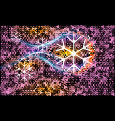 pink different triangle on a dark abstract vector image