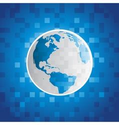 Pixel planet earth vector