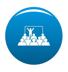 presentation icon blue vector image
