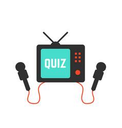 quiz on tv icon vector image