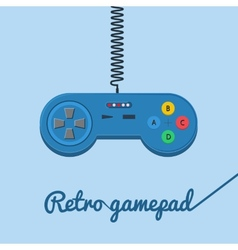 Retro gamepad in flat style vector