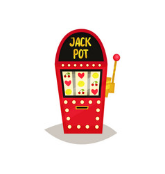 retro slot machine with fruit symbols vector image