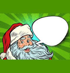 santa claus cartoon bubble christmas greeting vector image