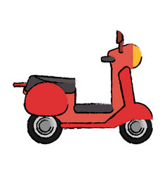 scooter motor transport icon vector image