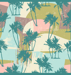 seamless exotic pattern with tropical palms and vector image