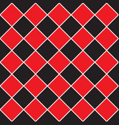 Seamless - red black rhombus pattern vector