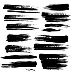 Set grunge brush strokes vector